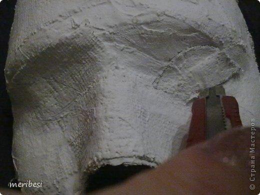 Мастер-класс Поделка изделие Новый год Аппликация из скрученных жгутиков Лепка Маскарадная маска  к празднику успеем мини мк   Гипс Клей Краска Салфетки фото 10