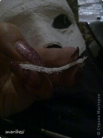 Мастер-класс Поделка изделие Новый год Аппликация из скрученных жгутиков Лепка Маскарадная маска  к празднику успеем мини мк   Гипс Клей Краска Салфетки фото 14