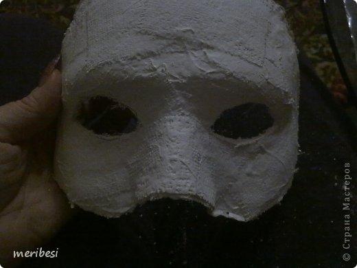 Мастер-класс Поделка изделие Новый год Аппликация из скрученных жгутиков Лепка Маскарадная маска  к празднику успеем мини мк   Гипс Клей Краска Салфетки фото 18