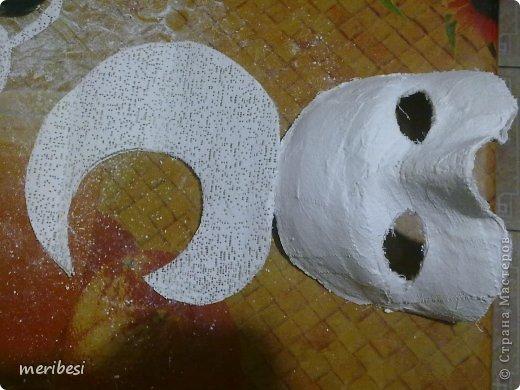Мастер-класс Поделка изделие Новый год Аппликация из скрученных жгутиков Лепка Маскарадная маска  к празднику успеем мини мк   Гипс Клей Краска Салфетки фото 19