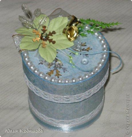 Еще одна моя поделочка к Новому году - коробочка для конфет.  фото 1