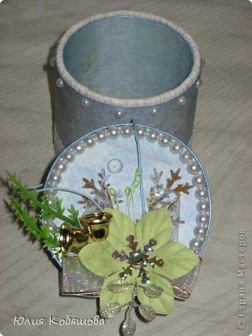 Еще одна моя поделочка к Новому году - коробочка для конфет.  фото 6