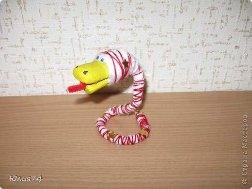 Ну вот наконец-то и я змеюшек сотворила! За идею спасибо Ола-Ола! Фантазия у нее обалденная! Вот увела змейку и себе сделала!  фото 6