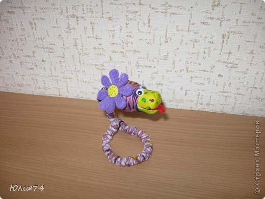Ну вот наконец-то и я змеюшек сотворила! За идею спасибо Ола-Ола! Фантазия у нее обалденная! Вот увела змейку и себе сделала!  фото 8