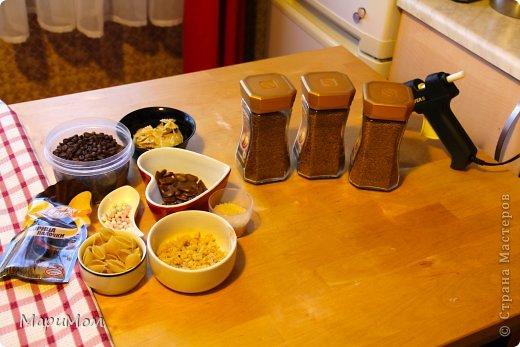 Вот такие баночки у нас получились) Их в последствии можно использовать для хранения сыпучих продуктов...например, того-же кофе. фото 2