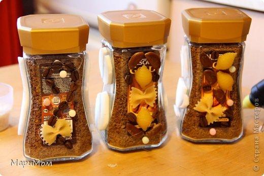Вот такие баночки у нас получились) Их в последствии можно использовать для хранения сыпучих продуктов...например, того-же кофе. фото 5