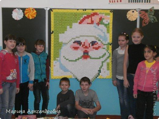 """Вот такое панно""""Дед Мороз"""" сложили из модулей учащиеся 4 класса. фото 1"""