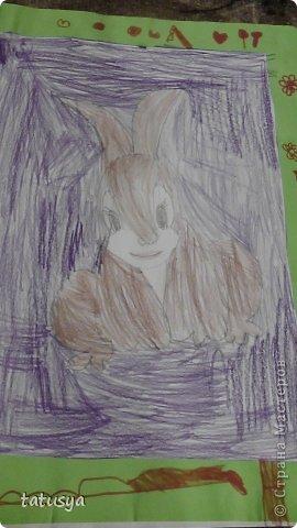 Это кролик его моя дочь только раскрасила.На так называемых уроках рисования.Где за нее все рисуют,а она раскрашивает!!!! фото 1