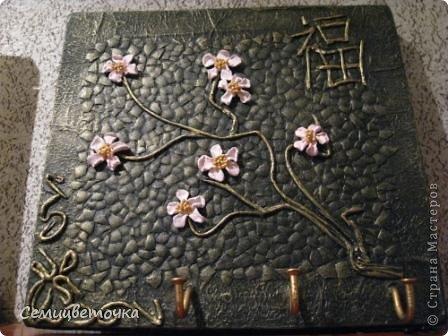 ключница китайско-японская с сакурой фото 1