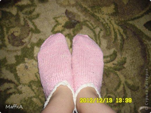 Эти носочки связала маме на новый год...Подскажите понравятся или нет???у нас с мамой размер  почти  одинаковый ,но носочки конечно не по мне... фото 3