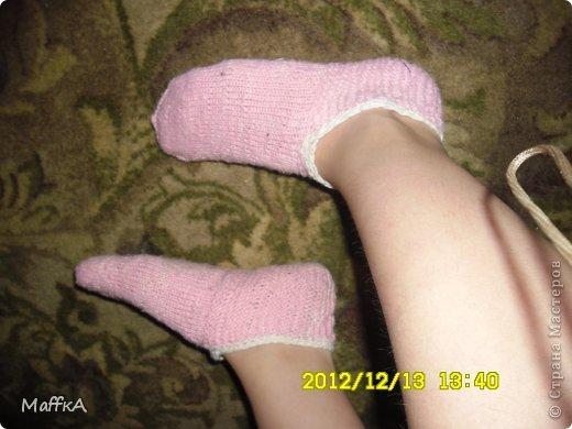 Эти носочки связала маме на новый год...Подскажите понравятся или нет???у нас с мамой размер  почти  одинаковый ,но носочки конечно не по мне... фото 4