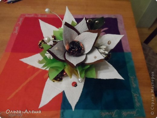 Увидела миники, загорелась. Сначала сделала с розой.  Потом решила поэкспериментировать в другом цвете. Вот что получилось. Это будут небольшие презенты на Новый год. фото 5