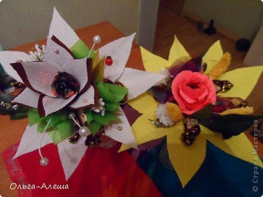 Увидела миники, загорелась. Сначала сделала с розой.  Потом решила поэкспериментировать в другом цвете. Вот что получилось. Это будут небольшие презенты на Новый год. фото 1