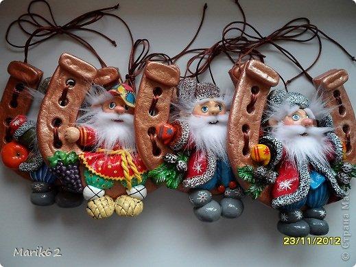 Оберег Рождество Лепка ДОМОВЯТА НА ПОДКОВКАХ Тесто соленое фото 1
