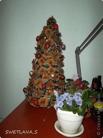 Новогоднюю ёлочку отнесла на работу, теперь она у меня украшает рабочий стол фото 2