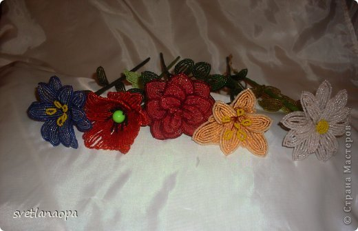 Заказали мне 5 разных цветков на длинной ножке, фото 2
