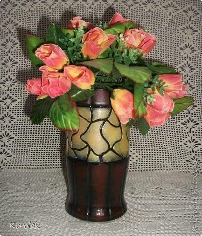 Здравствуйте!!Вот такие вазочки из гипса я сделала с помощью обычных бутылок от сладкой воды и пластилина. Вазы сделаны уже давно,только сейчас наконец сфотографировала Заодно решила сделать МК,может кому нибудь пригодится фото 10