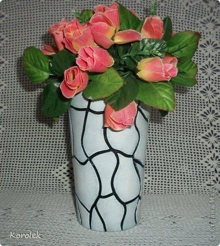 Здравствуйте!!Вот такие вазочки из гипса я сделала с помощью обычных бутылок от сладкой воды и пластилина. Вазы сделаны уже давно,только сейчас наконец сфотографировала  Заодно решила сделать МК,может кому нибудь пригодится фото 13