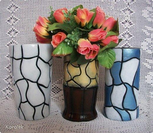 Здравствуйте!!Вот такие вазочки из гипса я сделала с помощью обычных бутылок от сладкой воды и пластилина. Вазы сделаны уже давно,только сейчас наконец сфотографировала Заодно решила сделать МК,может кому нибудь пригодится фото 4