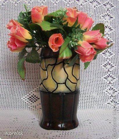Здравствуйте!!Вот такие вазочки из гипса я сделала с помощью обычных бутылок от сладкой воды и пластилина. Вазы сделаны уже давно,только сейчас наконец сфотографировала Заодно решила сделать МК,может кому нибудь пригодится фото 14