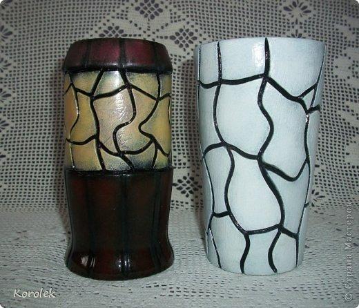 Здравствуйте!!Вот такие вазочки из гипса я сделала с помощью обычных бутылок от сладкой воды и пластилина. Вазы сделаны уже давно,только сейчас наконец сфотографировала  Заодно решила сделать МК,может кому нибудь пригодится фото 6