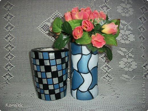 Здравствуйте!!Вот такие вазочки из гипса я сделала с помощью обычных бутылок от сладкой воды и пластилина. Вазы сделаны уже давно,только сейчас наконец сфотографировала Заодно решила сделать МК,может кому нибудь пригодится фото 8