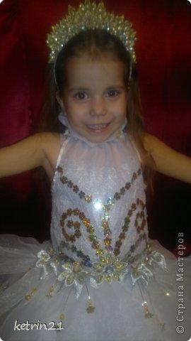 Платье и корона для моей Снежинки! фото 2
