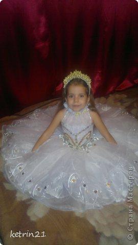 Платье и корона для моей Снежинки! фото 3