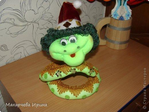 Спасибо большое Елене Ауловой за мастер-класс.Вот такой у меня змеёныш-сорванец получился. фото 1