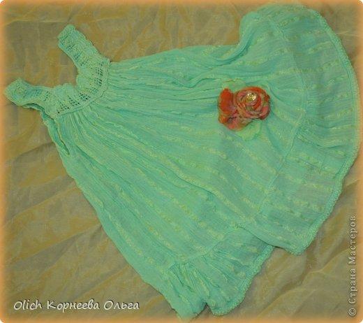 Украшаем детское платьице фото 1