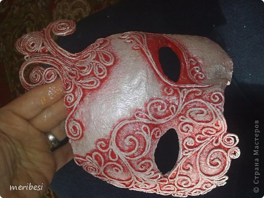 Мастер-класс Поделка изделие Новый год Аппликация из скрученных жгутиков Лепка Маскарадная маска  к празднику успеем мини мк   Гипс Клей Краска Салфетки фото 34