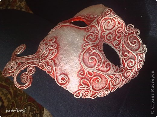 Мастер-класс Поделка изделие Новый год Аппликация из скрученных жгутиков Лепка Маскарадная маска  к празднику успеем мини мк   Гипс Клей Краска Салфетки фото 36