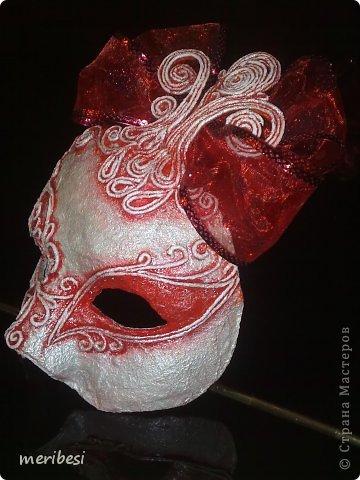 Мастер-класс Поделка изделие Новый год Аппликация из скрученных жгутиков Лепка Маскарадная маска  к празднику успеем мини мк   Гипс Клей Краска Салфетки фото 38