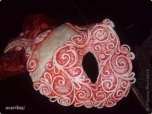 Мастер-класс Поделка изделие Новый год Аппликация из скрученных жгутиков Лепка Маскарадная маска  к празднику успеем мини мк   Гипс Клей Краска Салфетки фото 39