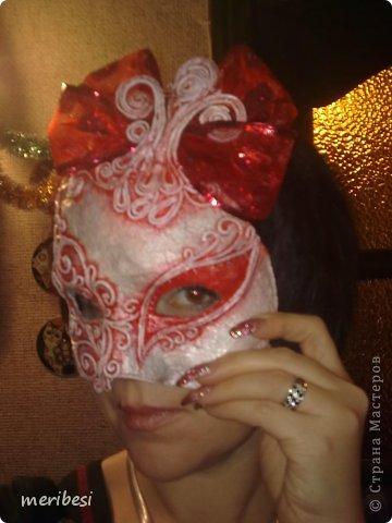 Мастер-класс Поделка изделие Новый год Аппликация из скрученных жгутиков Лепка Маскарадная маска  к празднику успеем мини мк   Гипс Клей Краска Салфетки фото 42