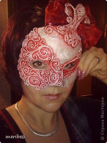 Мастер-класс Поделка изделие Новый год Аппликация из скрученных жгутиков Лепка Маскарадная маска  к празднику успеем мини мк   Гипс Клей Краска Салфетки фото 43
