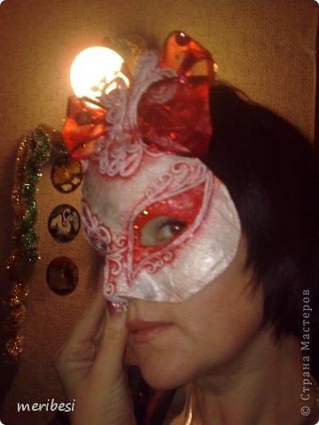 Мастер-класс Поделка изделие Новый год Аппликация из скрученных жгутиков Лепка Маскарадная маска  к празднику успеем мини мк   Гипс Клей Краска Салфетки фото 44