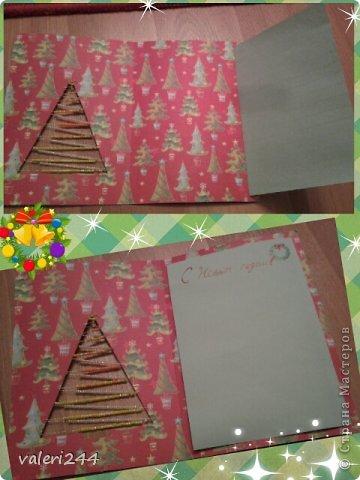 Всем доброй ночи уже!и хочу всех поздравить с тем,что мы выжили 21! ) хочу предоставить на ваш суд мои открыточки на Новый год.Это не все,будут еще пополнения,но пока что так.Вот первая открытка,это пока у меня не было скрап бумаги,поэтому постенькая. фото 3