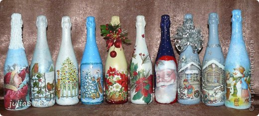 Вот еще сделалась партия бутылочек к Новому году. Жду ваши комментарии и замечания )  фото 1