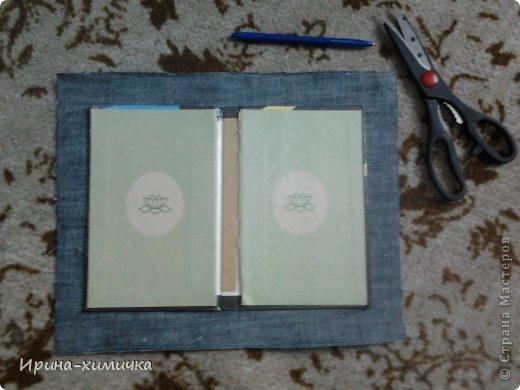 Мастер-класс Поделка изделие Моделирование конструирование Чехол для планшета Картон Клей Нитки Ткань фото 3