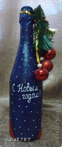 Вот еще сделалась партия бутылочек к Новому году. Жду ваши комментарии и замечания )  фото 21