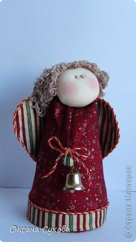 Куклы Рождество Шитьё Текстильные Ангелы с выкройкой Ткань фото 4