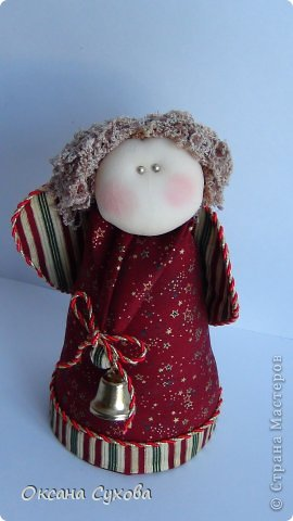 Куклы Рождество Шитьё Текстильные Ангелы с выкройкой Ткань фото 5