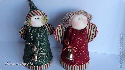 Куклы Рождество Шитьё Текстильные Ангелы с выкройкой Ткань фото 7