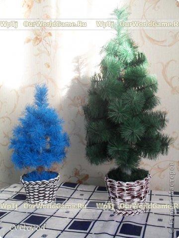 Мастер класс новогодняя елка своими руками. фото 11