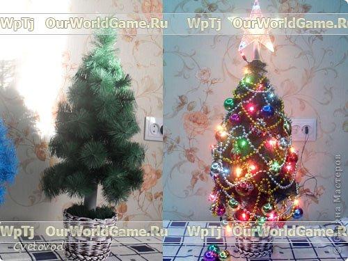 Мастер класс новогодняя елка своими руками. фото 1