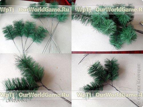 Мастер класс новогодняя елка своими руками. фото 10