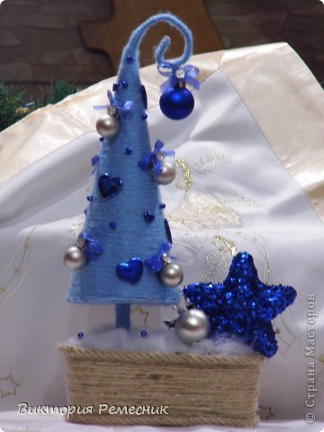 Ёлочки  в голубом цвете фото 1