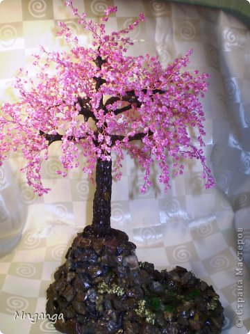 """Я наконец закончила свою сакуру, урааааа! Вот решила все недоделки доделать, чтоб без """"долгов"""" в Новый год :) Это моё третье дерево, высота 40 см.  фото 4"""