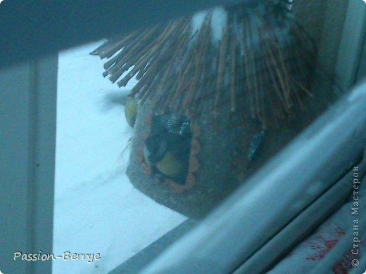 """Добрый всем день!!! Наконец настал этот момент, когда я могу выложить фото своей готовой кормушки для птиц! Иногда бывает начинаешь какую-нибудь поделку, и вдруг не понимаешь что и как с ней делать(творческий кризис)))) и оставляешь до лучших времён. Так вот я эту замечательную идею подсмотрела у Kukushechki ГОД НАЗАД(!), начала делать и застопорилась... А пару дней назад у меня как """"третий глаз"""" открылся))))))   Я ТаК РаДа!!! И ХоЧу ПоДеЛиТьСя С ВаМи!!! фото 9"""